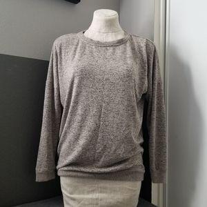 Workshop Republic Tan & Black Crew Sweater